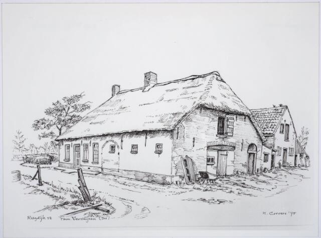 030621 - Tekening. Landbouw. Boerderij aan de RugdijkDoor H.Corvers.