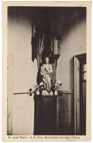 001408 - St. Jozefbeeld in het retraitehuis en klooster van O.L.V. van het Cenakel aan de Koningshoeven, nu Kempenbaan.
