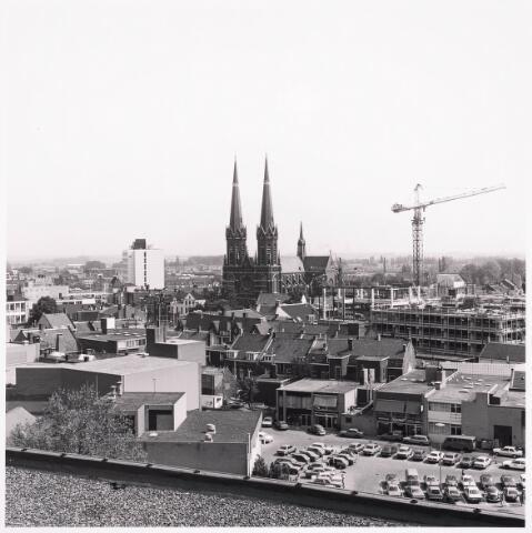 """036446 - Panorama van Tilburg vanaf de """" Katterug """"."""