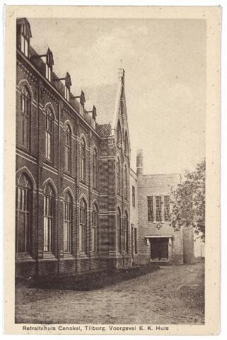 001412 - Voorgevel van het retraitehuis van de zusters Religieuzen van O.L.V. van het Cenakel aan de Koningshoeven, nu Kempenbaan.