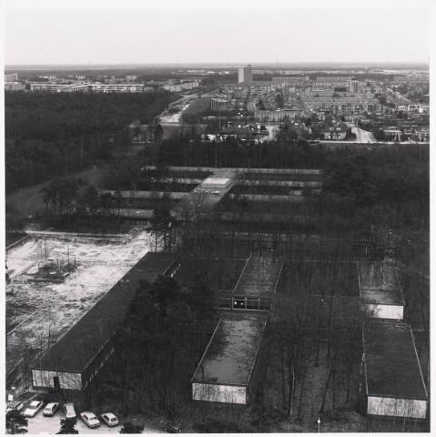 036427 - Panorama van Tilburg vanaf de Hogeschool.