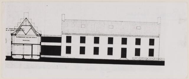 084552 - Gemeentehuis. Tekening verbouwing