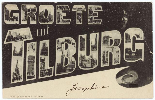 003123 - 'Groete uit Tilburg'.