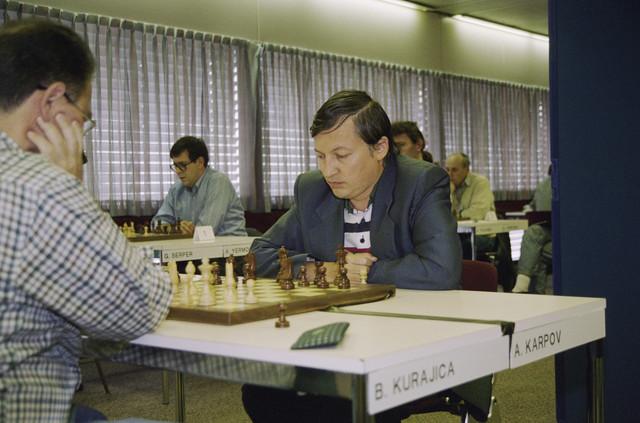 TLB023000772_001 - Deelnemers Interpolis schaaktoernooi, waaronder Anatoly Karpov.