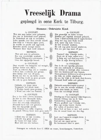 007204 - Pamflet. De moord op het Tilburgse meisje Marietje Kessels. Marietje Kessels (1889-1900) ligt begraven op de begraafplaats van ´t Heike aan de Bredaseweg (graf A 11/45)