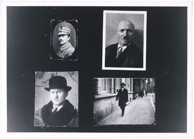 006264 - W.J. Walschots geboren te Tilburg op 19 april 1885. als militair (1915), prive 1937, met bolhoed (1930) in de straat (1926)