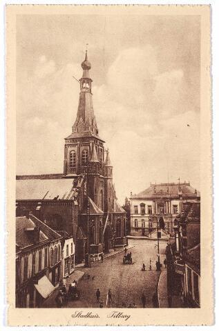 001862 - Oude Markt, voorheen de Markt, met kerk van het Heike en het voormalige gemeentehuis.