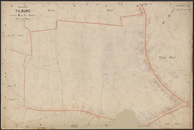 652630 - Kadasterkaart Tilburg, Sectie Q, blad 2. Schaal 1:1000. 1913.