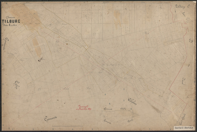 652600 - Kadasterkaart Tilburg, Sectie E (De Blaak). Schaal 1:2500. z.j.