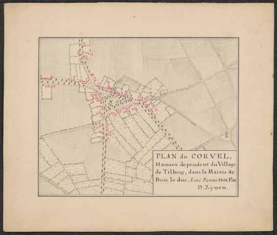 652499 - Fragment-kaart D. Zijnen. Corvel (Korvel)