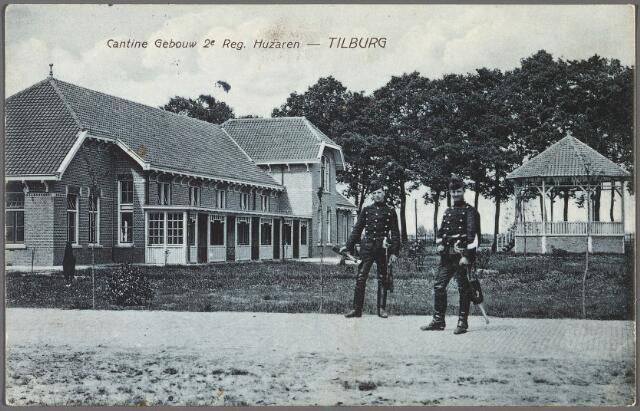 010250 - kantine 2e regiment huzaren op het terrein van de Kromhoutkazerne aan de Bredaseweg.