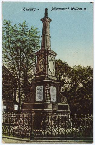 002519 - Gedenknaald voor koning Willem II op de hoek van de Monumentstraat en de Paleisstraat.