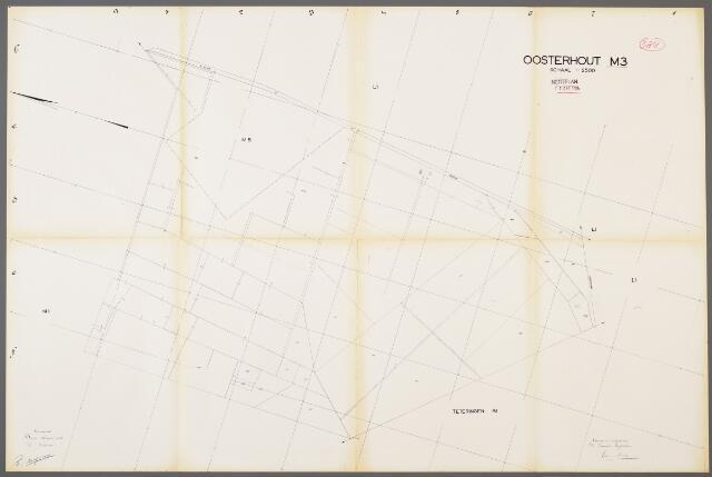 104979 - Kadasterkaart. Kadasterkaart / Netplan Oosterhout. Sectie M3. Schaal 1: 2.500.