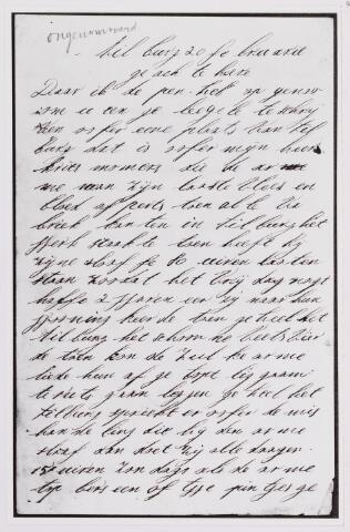 040841 - Brief (1887) inzake de parlementaire enquete betreffende kinderarbeid in de fabriek van Chrisje Mommers te Tilburg.