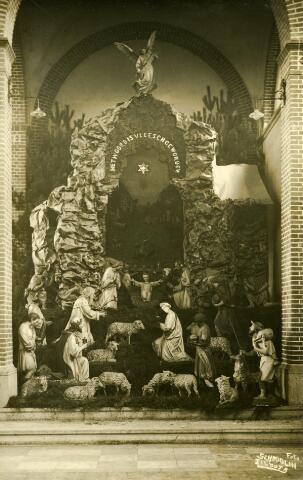 650634 - Schmidlin. Kerststal in de parochiekerk van de H. Antonius aan de Hoefstraat.