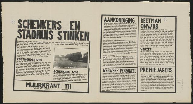 668_1982_111 - Muurkrant: Schenkers en stadhuis stinken