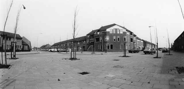 1238_F0413 - Nieuwbouw.  Panoramafoto. Woningen in de Reeshof.