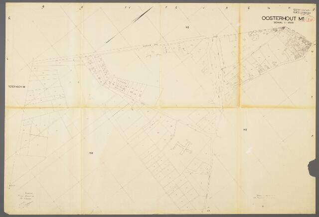 104980 - Kadasterkaart. Kadasterkaart / Netplan Oosterhout. Sectie M1. Schaal 1: 2.500.