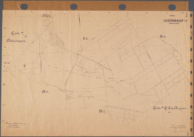 104783 - Kadasterkaart. Kadasterkaart Oosterhout Sectie I1, Schaal 1:5.000