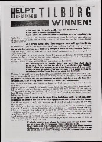 040877 - Textielstaking 1935. Pamfletten, Annonces, mededelingen in de Fakkel het orgaan van het nationaal arbeidssecretariaat, de textielarbeidersbond, de vereniging van Textielfabriekanten, inzake de staking van textielarbeiders op 13 september 1935.