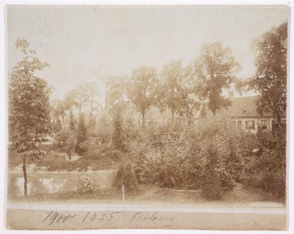 035106 - Zicht op een bruggetje in het Wilhelminapark rond 1900