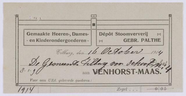 061290 - Briefhoofd. Nota van Venhorst-Maas voor de gemeente Tilburg