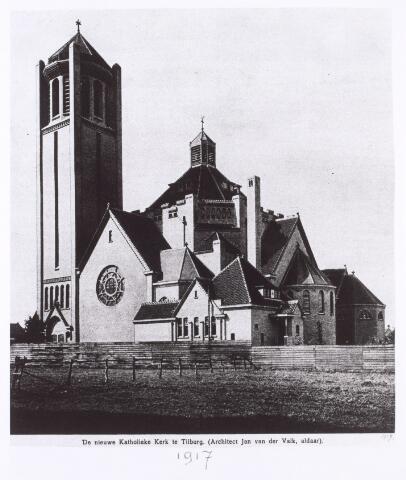 016516 - Kerk Onze Lieve Vrouw van Goede Raad aan de Broekhovenseweg, behorende tot de parochie Broekhoven I. Naar een ontwerp van de Tilburgse architect Jan van der Valk