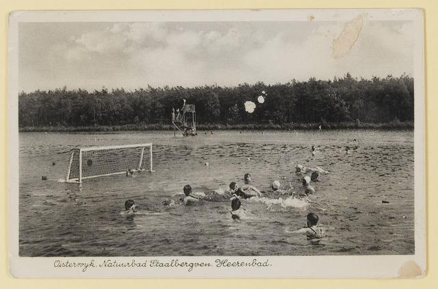 074855 - Staalbergven, gebruikt als zwembad in bbeheer bij de stichting voor recreatie sport en lichamelijke opvoeding. gepacht van natuurmonumenten.
