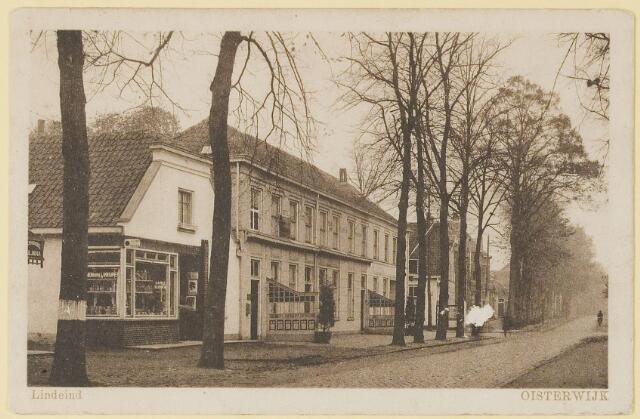 073686 - De Dorpstraat met Hotel restaurant Wilhelmina, nu Dorpsherberg geheten.