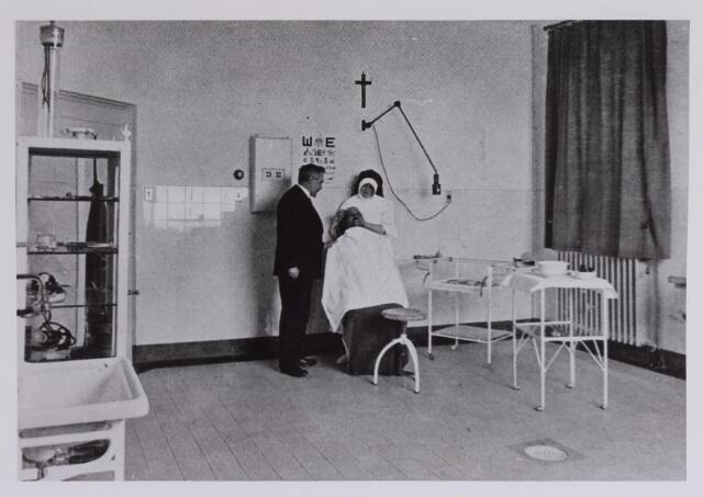 041681 - Elisabethziekenhuis. Gezondheidszorg. Ziekenhuizen. Oogheelkundige polikliniek van oogarts C. Kuit in het St. Elisabethziekenhuis.
