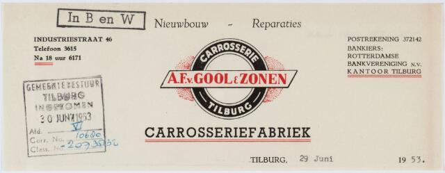 060169 - Briefhoofd. Briefhoofd van A.F. v. Gool & Zonen, Carrosserie, Industriestraat 46