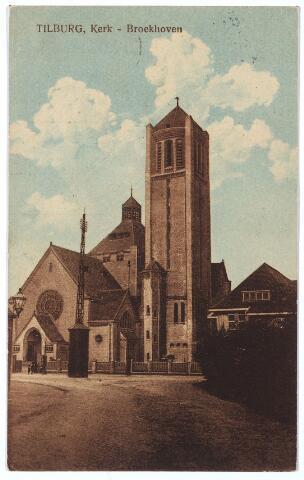 000293 - Op de voorgrond de huidige Voltstraat. Op de achtergrond de Broekhovenseweg  met de kerk  van O. L. V. Moeder van  Goede Raad (Broekhoven I).