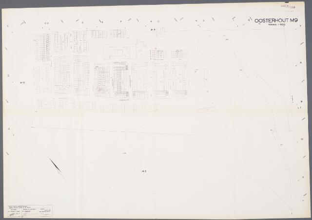 104915 - Kadasterkaart. Kadasterkaart / Netplan Oosterhout. Sectie M9. Schaal 1: 1000.