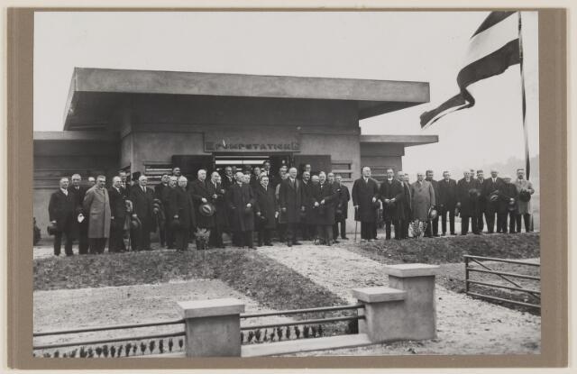075491 - Oficiele opening Waterleiding te Oisterwijk op 15 october 1929. hier het pompstationb tussen Vugt en Boxtel.