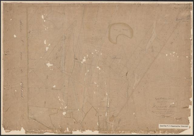 652602 - Kadasterkaart Tilburg, Sectie F (Haansche Hoeven), blad 2. Schaal 1:5000. z.j.