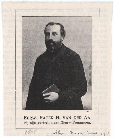 005162 - Pater H. van der AA uit Tilburg, Missionaris in Nieuw-Pommeren. Ontleend aan de Almanak Missiehuis Tilburg 1905