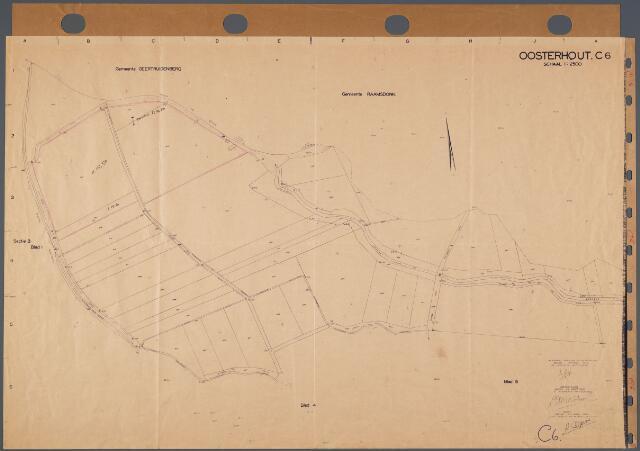 104694 - Kadasterkaart. Kadasterkaart Oosterhout Sectie C6. Schaal 1: 2.500