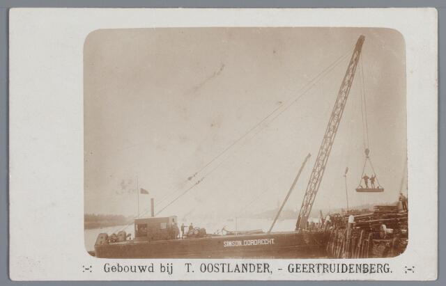 058092 - Hijsbok SIMSON Dordrecht, gebouwd bij T. Oostlander te Geertruidenberg.