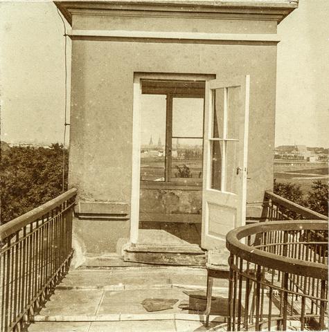 653563 - Villa Geldersch Hof, torentje. (Origineel is een stereofoto.)