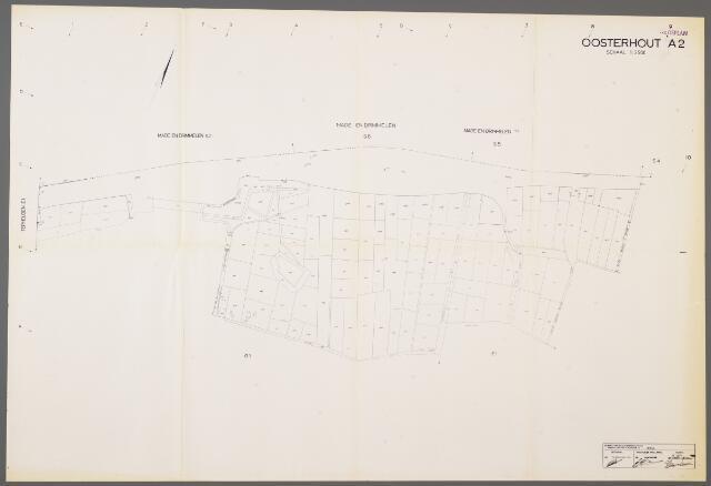 104988 - Kadasterkaart. Kadasterkaart / Netplan Oosterhout. Sectie A2. Schaal 1: 2.500.