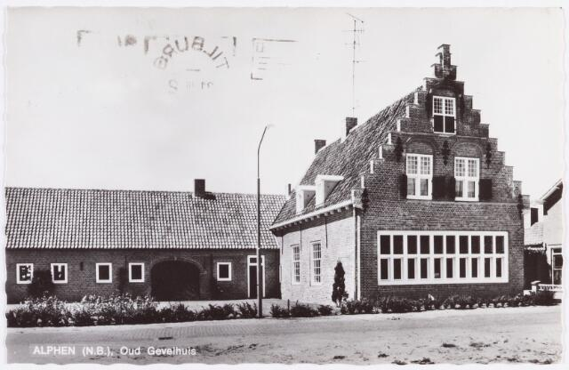 055163 - Oud gevelhuis te Alphen