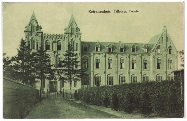 001381 - Voorgevel van het retraitehuis en klooster van O.L.V. van het Cenakel aan de Koningshoeven, nu Kempenbaan.