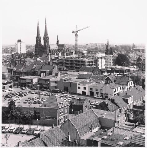 """036448 - Panorama van Tilburg vanaf de """" Katterug """"."""