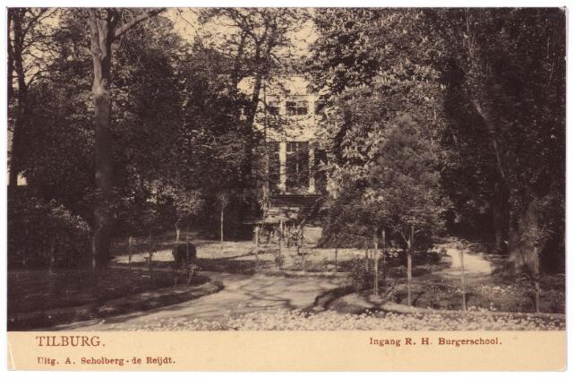 002399 - Onderwijs. Ingang en park 'Rijks Hoogere Burgerschool' ofwel Rijks H.B.S. Koning Willem II.
