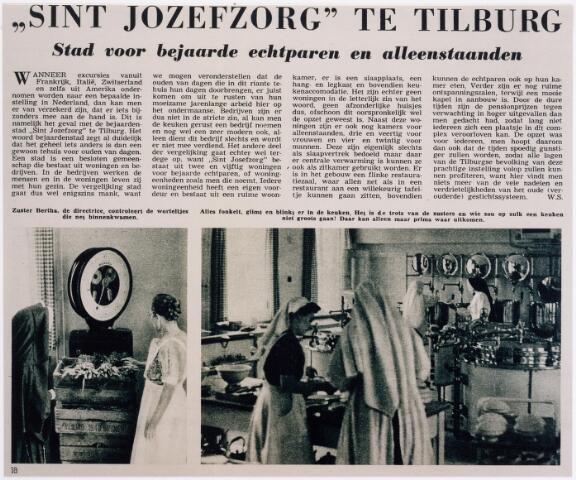 042145 - Bejaardenzorg. In het tijdschrift Zuid van 18 augustus 1951 stond een uiterst lovend artikel over pension St.-Jozefzorg, dat als een ´stad voor bejaarde echtparen en alleenstaanden´ werd omschreven.