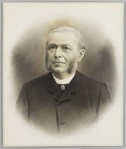 068517 - Adriaan Michael Goyaerts, geboren op 22 juli 1834 en overleden op 30 maart 1891. Hij trouwde met Maria Johanna  Ludovica van Beugen. Geretoucheerde foto uit 1903