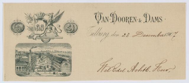059969 - Briefhoofd. Briefhoofd van Van Dooren & Dams Textielfabrieken N.V.