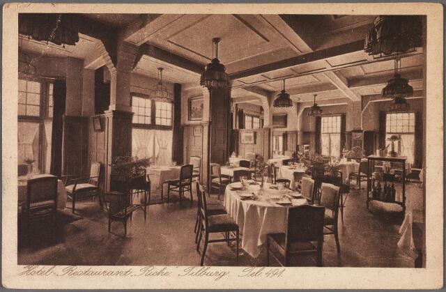 010709 - Interieur hotel Riche aan de zuidzijde van de Heuvel, het restaurant.
