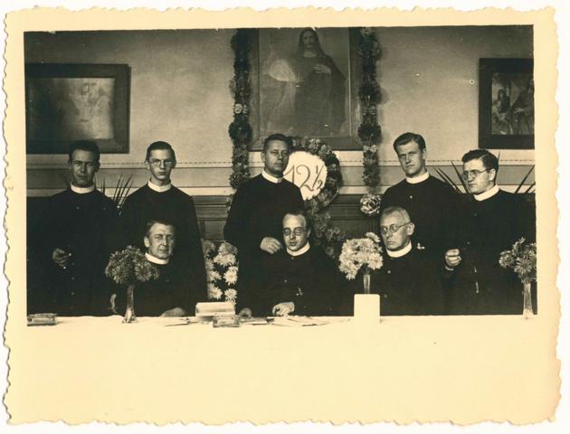 653128 - Groepsfoto. Fr. Radboud Verrijt. Koperenfeest.