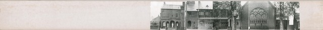 1625_0158 - Fotostrook; straatwand; panden aan de linten en hoofdverbindingswegen in het centrum van de stad; Kerk hoek Laarstraat / Korvelplein 14-50; foto's werden tussen 1976 en 1985 gemaakt. (foto gemaakt in periode 1976-1985)